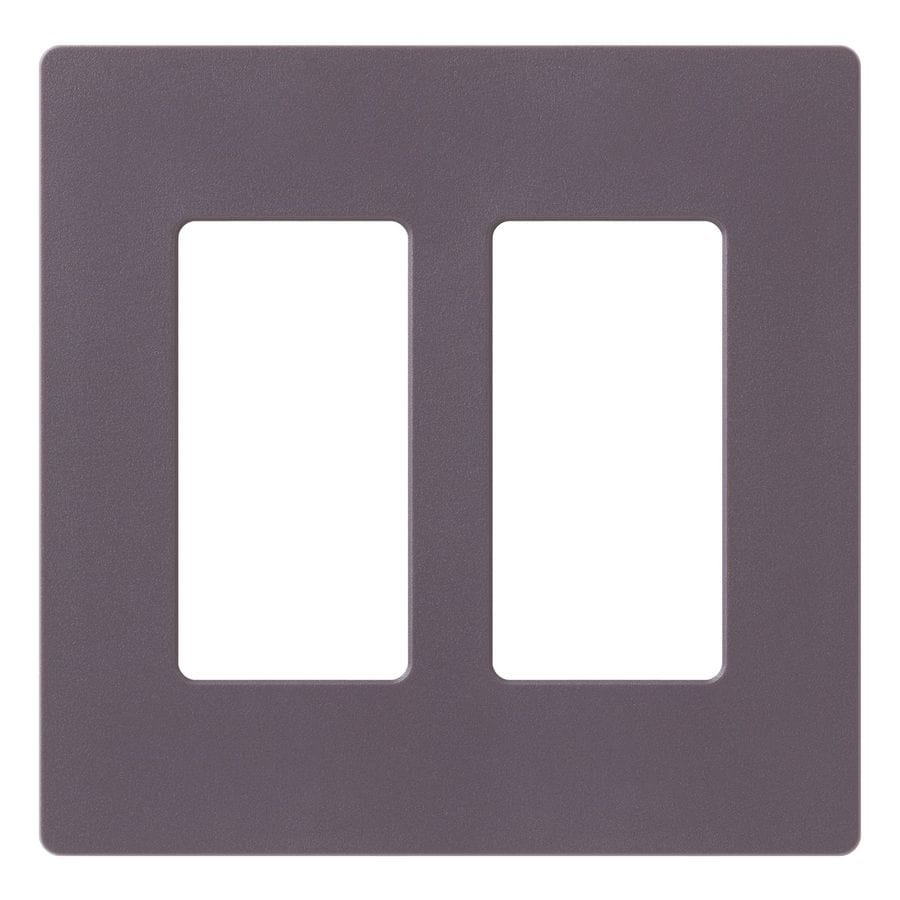 Lutron Claro 2-Gang Plum Double Decorator Wall Plate