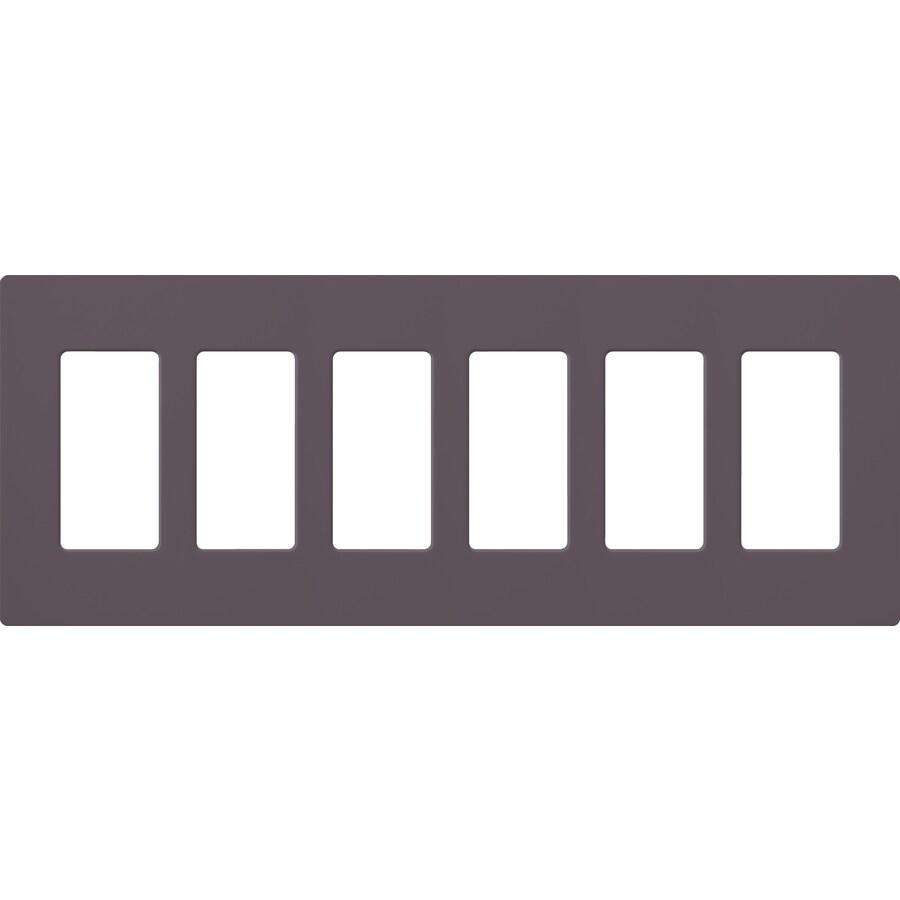 Lutron Claro 6-Gang Plum Six Decorator Wall Plate