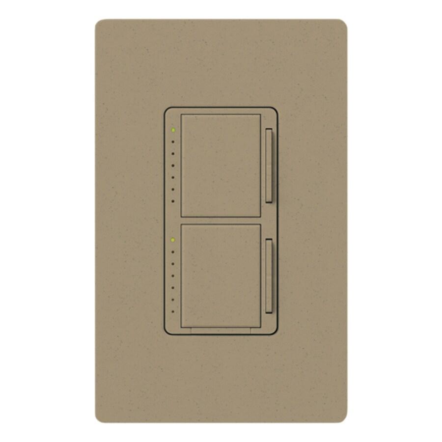 Lutron Maestro 300-Watt Single Pole Mocha Stone Touch Indoor Dimmer