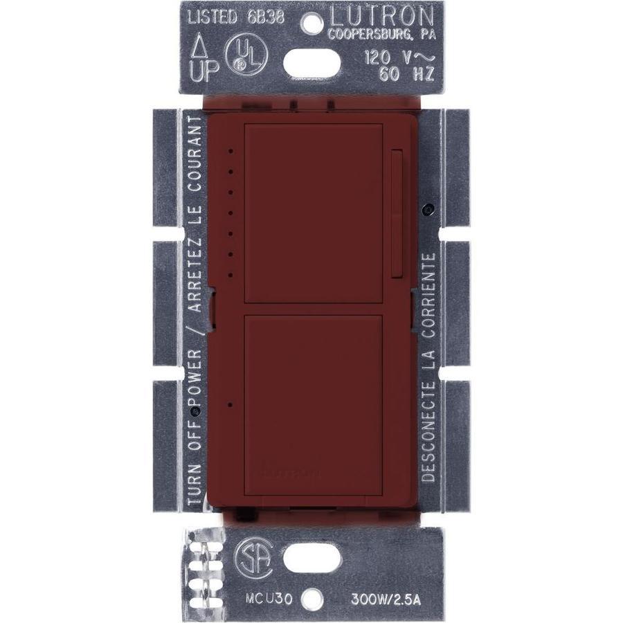 Lutron Maestro 300-Watt Single Pole Merlot Indoor Touch Dimmer
