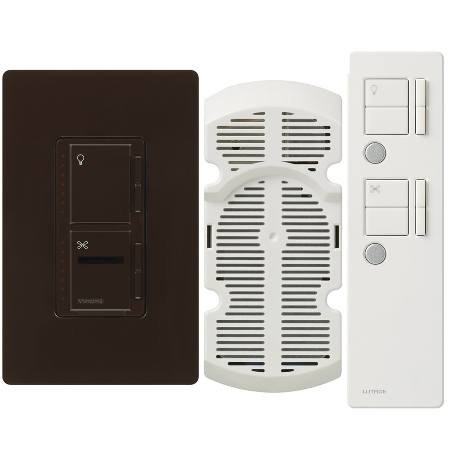 Lutron Maestro IR 2.5-Amp 300-Watt Brown 3-Way Digital Combination Ceiling Fan and Light Control with Remote
