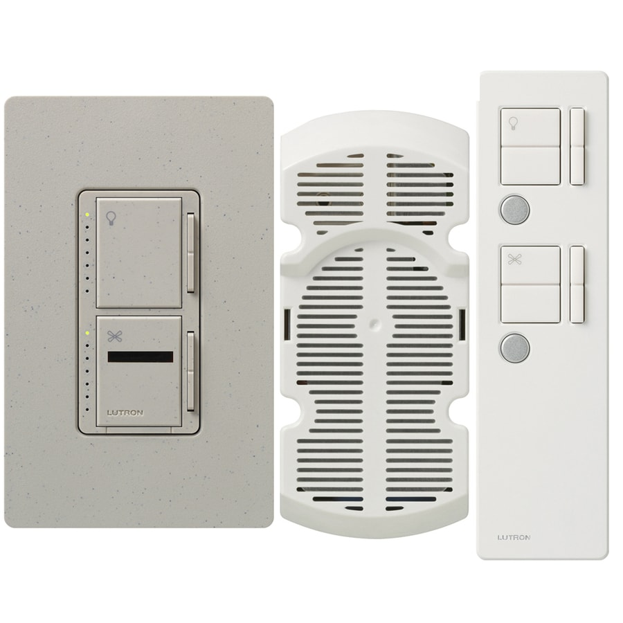 Lutron Maestro IR 300-watt Single Pole 3-way Wireless Stone Remote Control Indoor Combination Dimmer And Fan Control