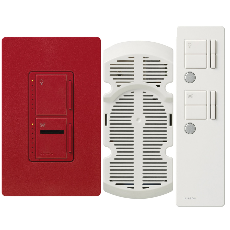 Lutron Maestro IR 300-Watt Single Pole 3-Way Wireless Hot Indoor Remote Control Combination Dimmer and Fan Control