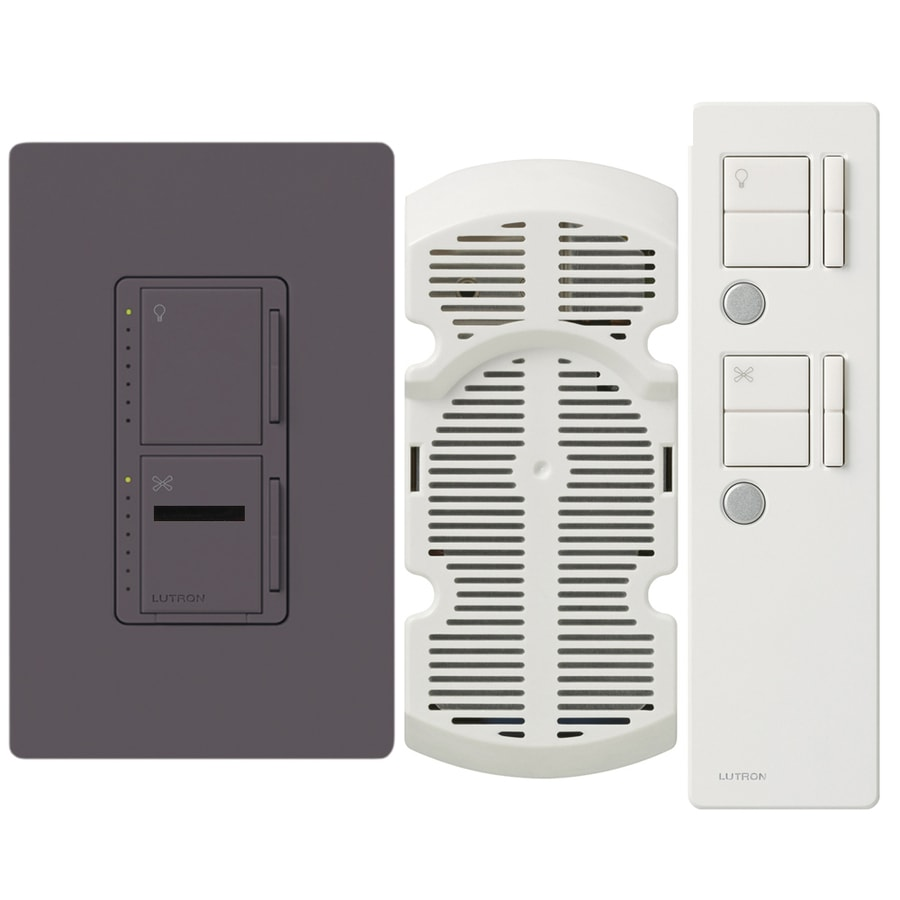 Lutron Maestro IR 300-watt Single Pole 3-way Wireless Plum Remote Control Indoor Combination Dimmer And Fan Control