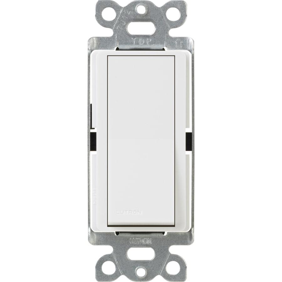 Lutron Claro 15-Amp Single Pole White Push Indoor Light Switch