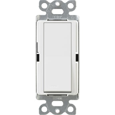 Rocker Light Switch >> Claro 15 Amp Single Pole White Rocker Illuminated Night Light Residential Light Switch