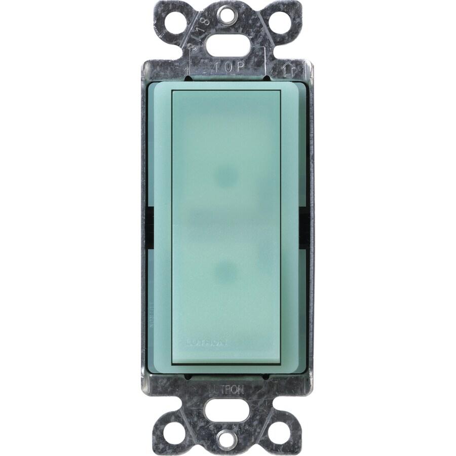 Lutron Claro 15-Amp Single Pole Sea Glass Indoor Push Light Switch