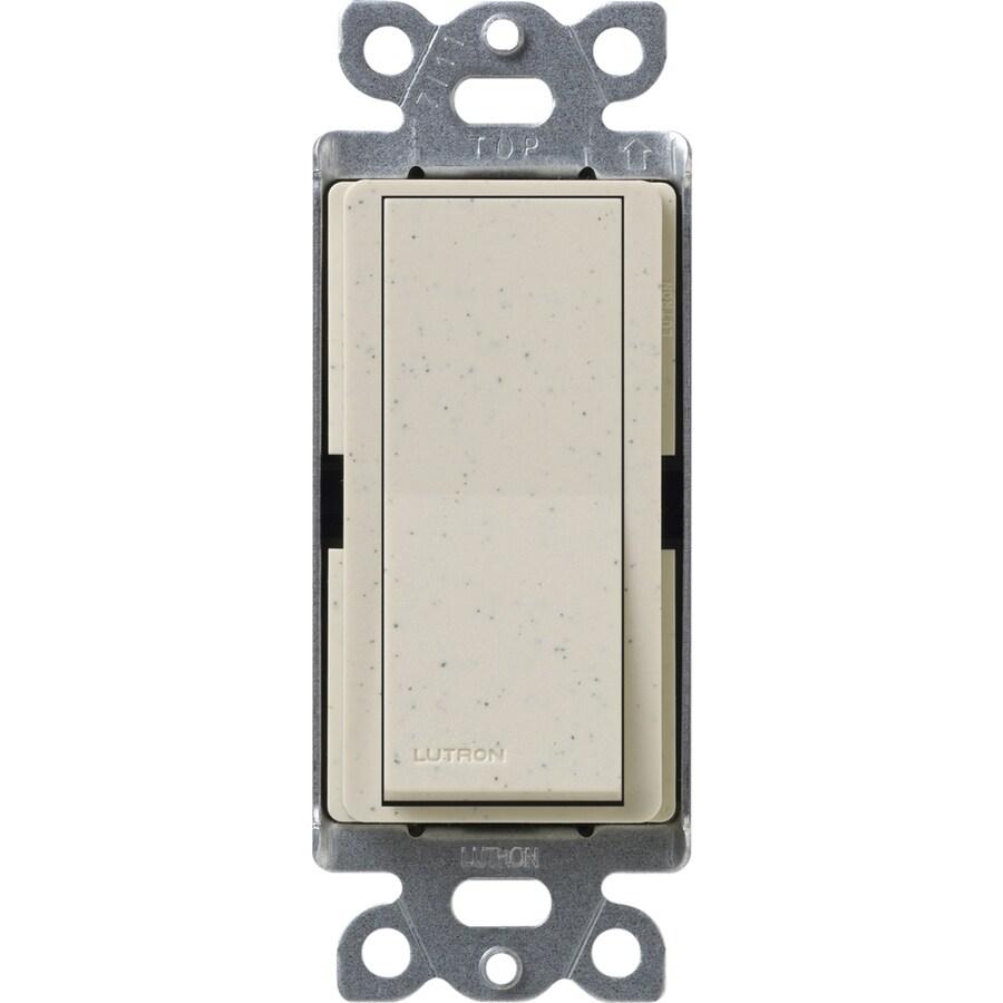 Lutron Claro 15-Amp Single Pole Limestone Push Indoor Light Switch