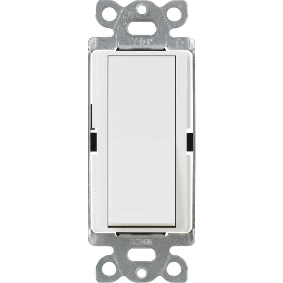 Lutron Claro 15-Amp Double Pole 3-Way White Indoor Push Light Switch