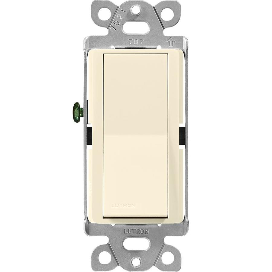Lutron Claro 15-Amp Double Pole 3-Way Almond Push Indoor Light Switch