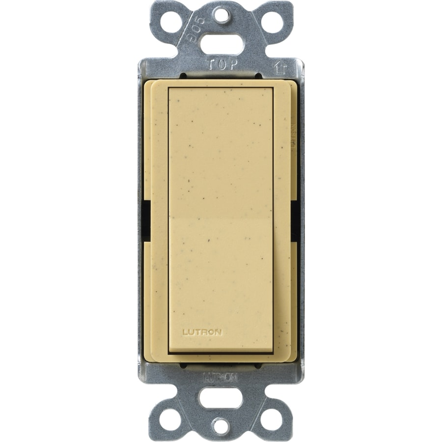 Lutron Claro 15-Amp Double Pole 3-Way Goldstone Push Indoor Light Switch