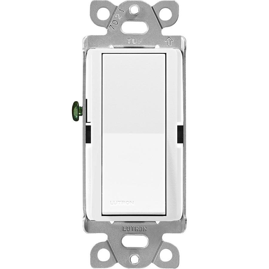 Lutron Claro 15-Amp Double Pole 3-Way Snow Push Indoor Light Switch