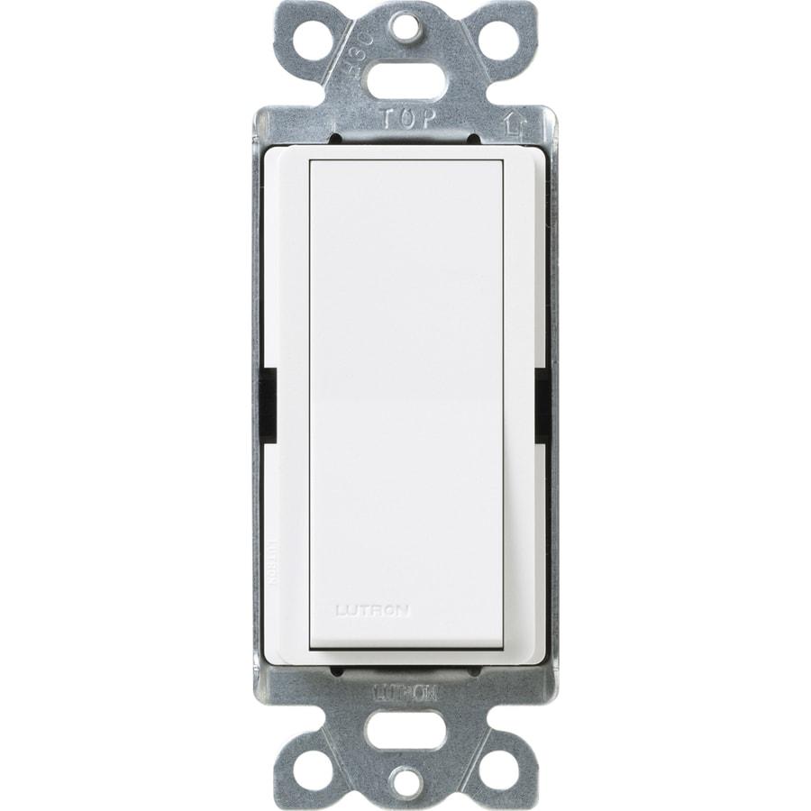 Lutron Claro 15-Amp 4-Way Snow Indoor Push Light Switch