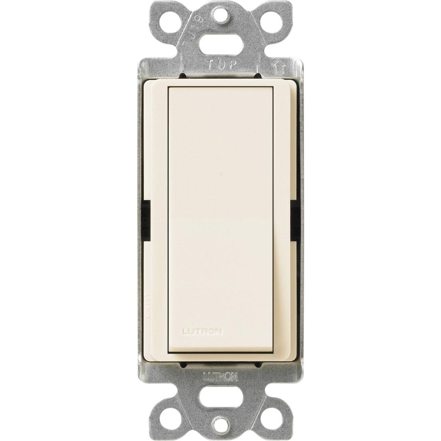 Lutron Claro 15-Amp 4-Way Eggshell Indoor Push Light Switch