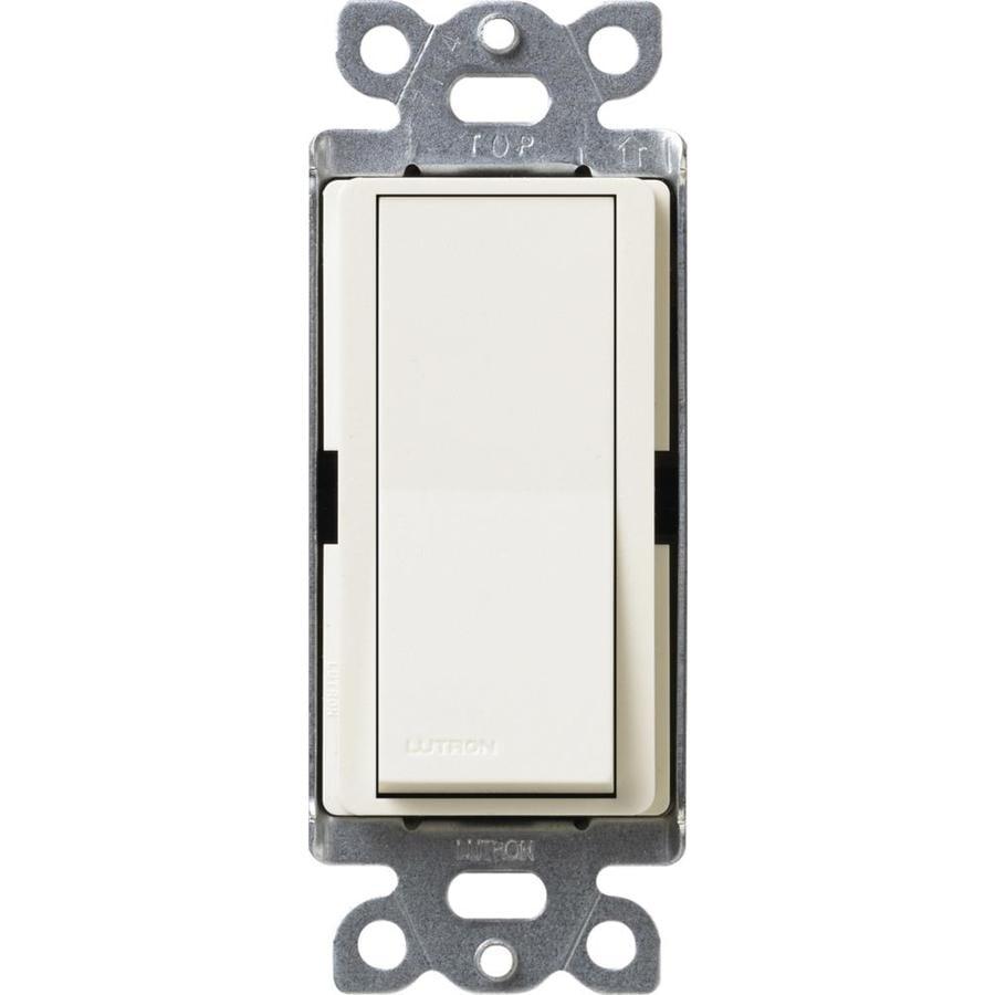 Lutron Claro 15-amp 4-way Biscuit Push Indoor Light Switch