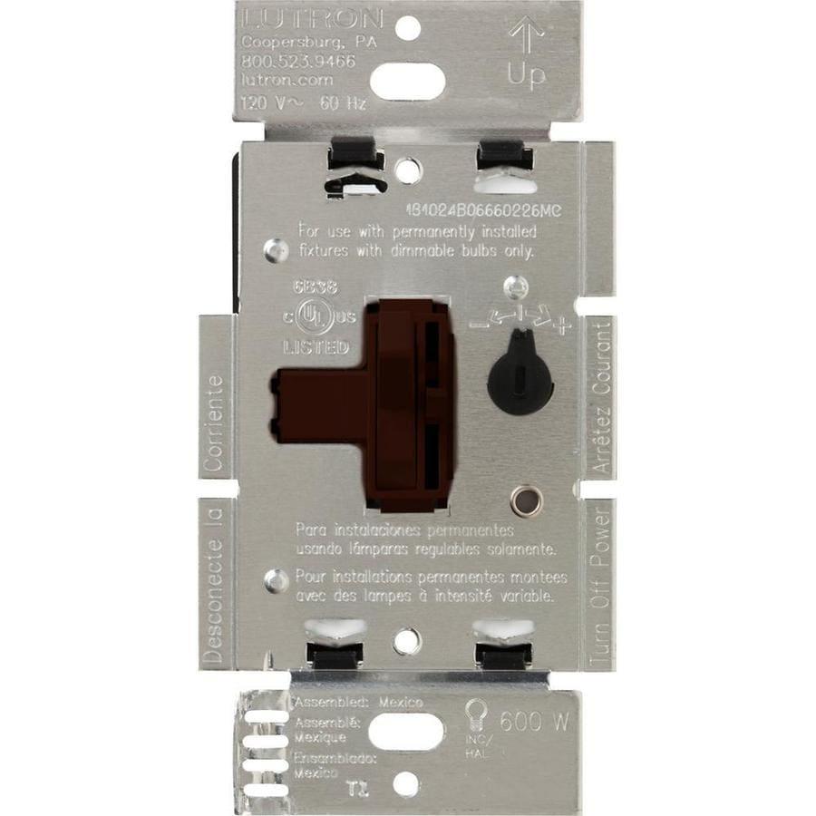 Lutron Toggler 600-watt Single Pole 3-way Brown Toggle Indoor Dimmer
