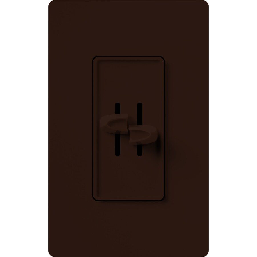 Lutron Skylark 300-Watt Single Pole Brown Indoor Slide Dimmer