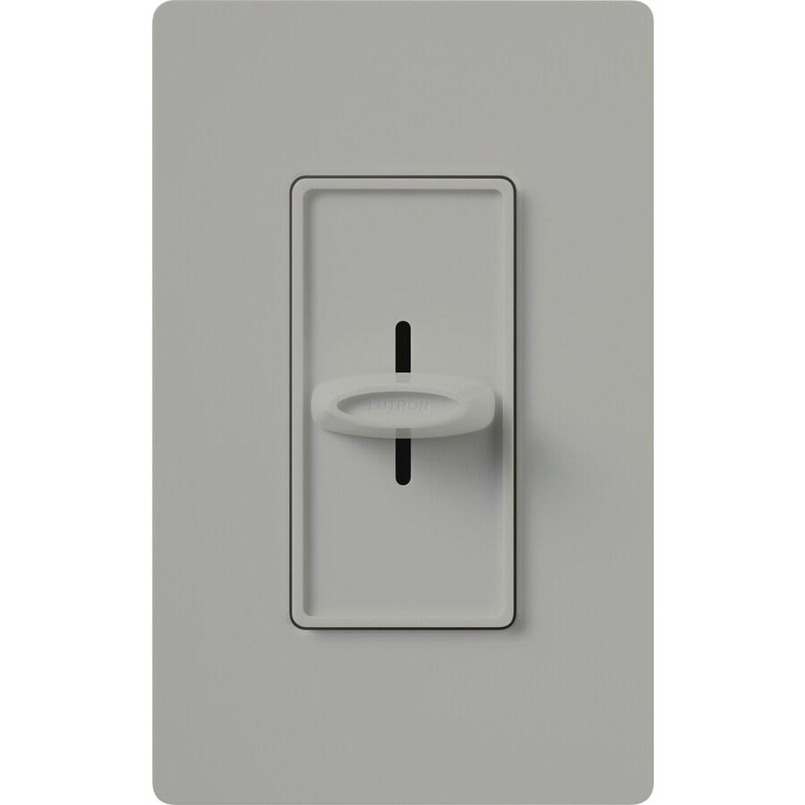 Lutron Skylark 600-Watt Single Pole Gray Indoor Dimmer