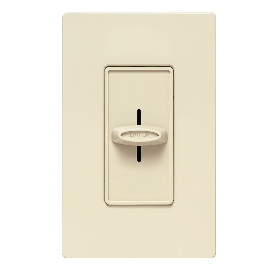 Lutron Skylark 600-Watt Single Pole Ivory Indoor Dimmer