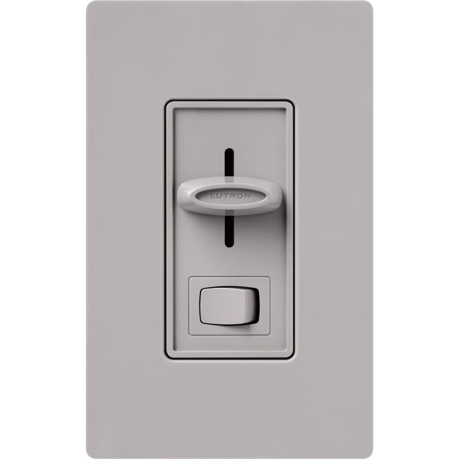 Lutron Skylark 0-Switch 600-Watt Single Pole Gray Indoor (Control) Dimmer
