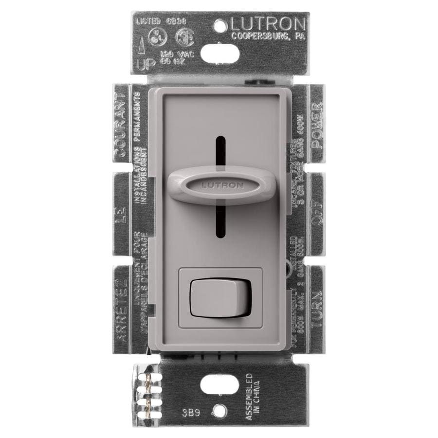 Lutron Skylark 600-Watt Single Pole 3-Way Gray Indoor Dimmer