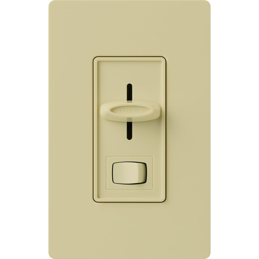 Lutron Skylark 300-Watt Single Pole 3-Way Ivory Indoor Dimmer