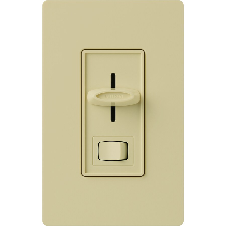 Lutron Skylark 450-watt Single Pole 3-way Ivory Indoor Dimmer