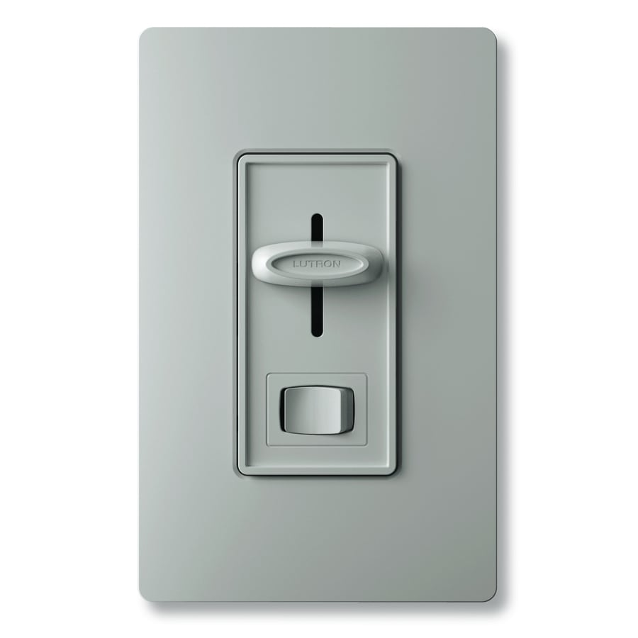 Lutron Skylark 1000-Watt Single Pole Gray Indoor Dimmer
