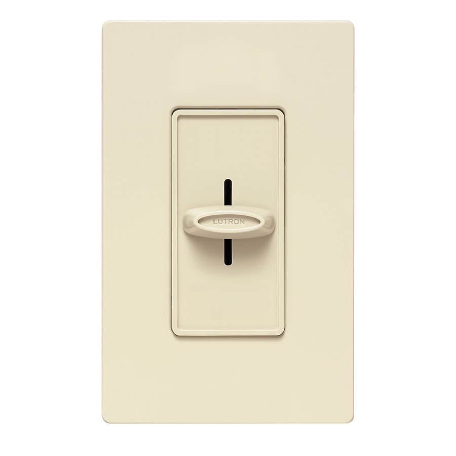 Lutron Skylark 1000-Watt Single Pole Ivory Indoor Dimmer