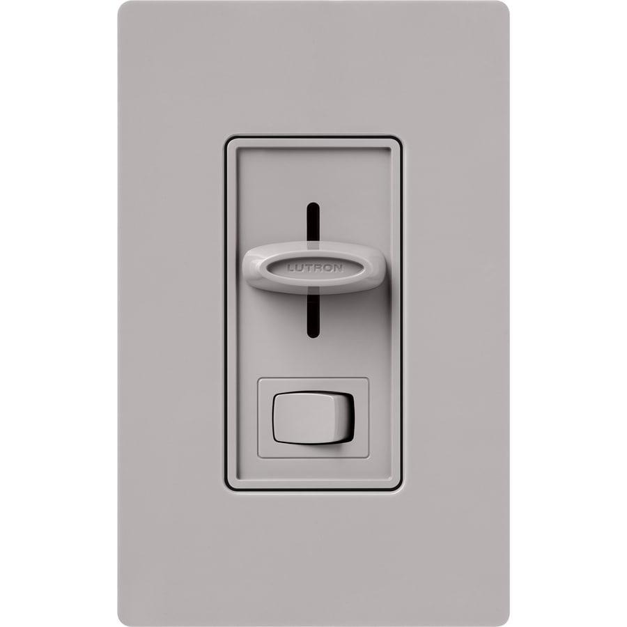 Shop Lutron Skylark 1000watt Single Pole 3way Gray Indoor Dimmer