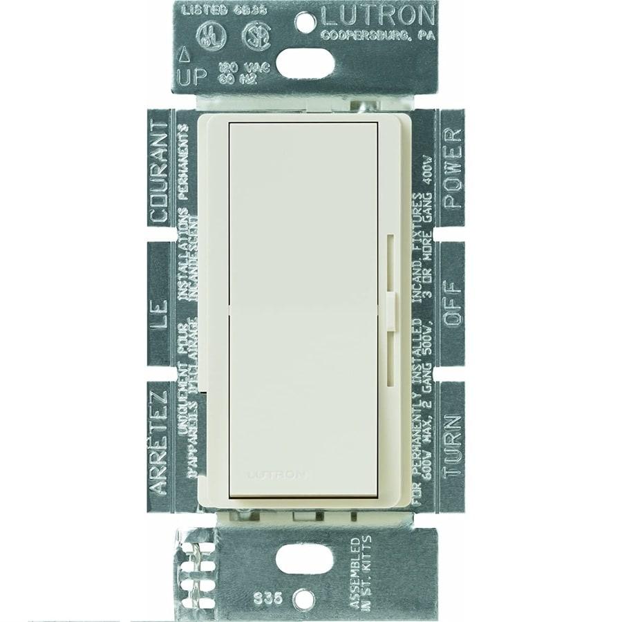 Lutron Diva 450-Watt Single Pole 3-Way Light Almond Indoor Dimmer