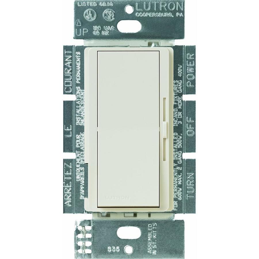Lutron Diva 3-Speed 1.5-Amp Light Almond Indoor Slide Fan Control