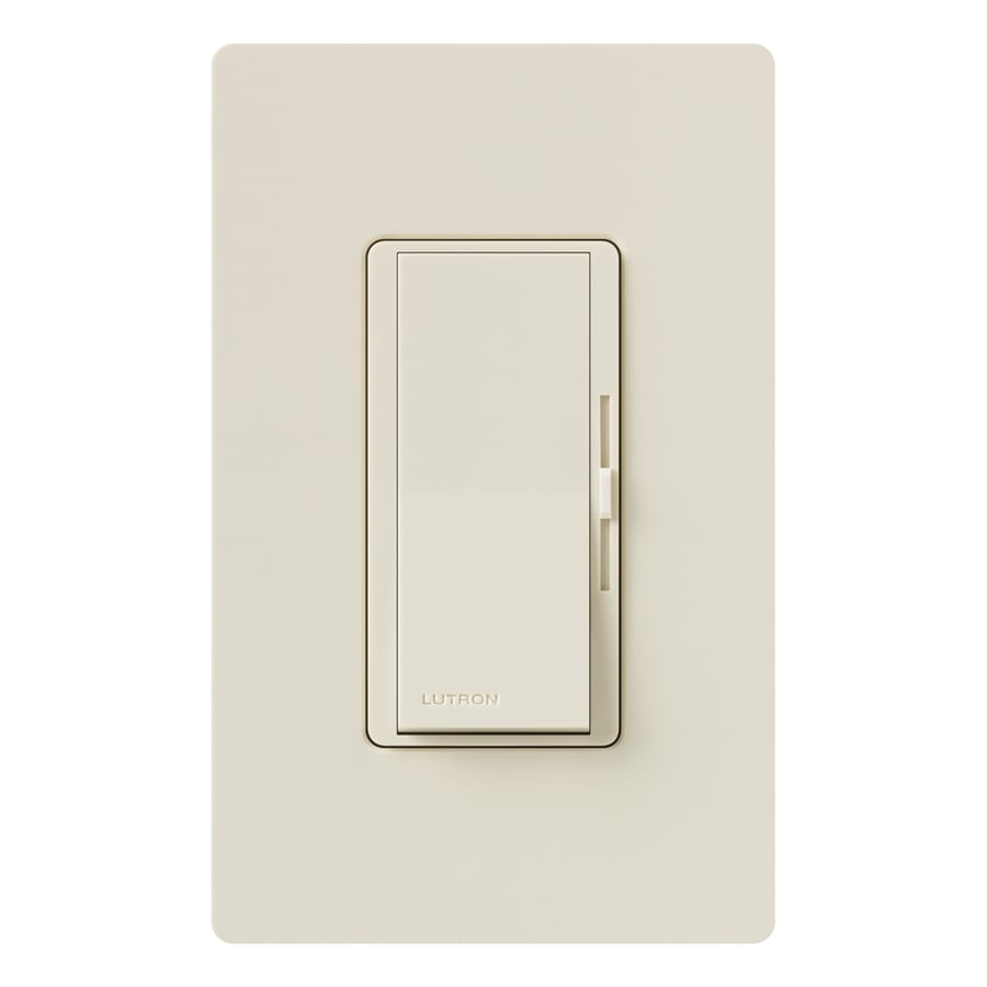 Lutron Diva 800-Watt Single Pole 3-Way Light Almond Indoor Dimmer