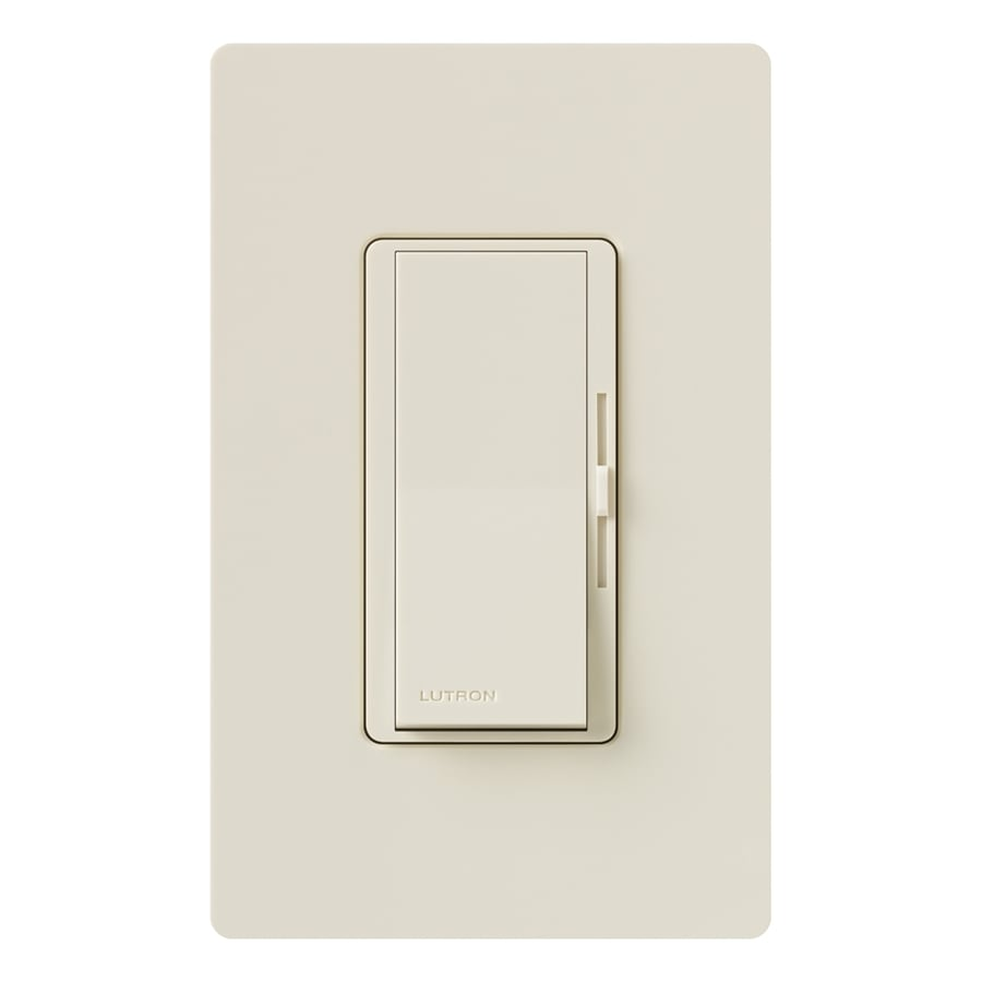 Lutron Diva 300-Watt Single Pole Light Almond Indoor Dimmer