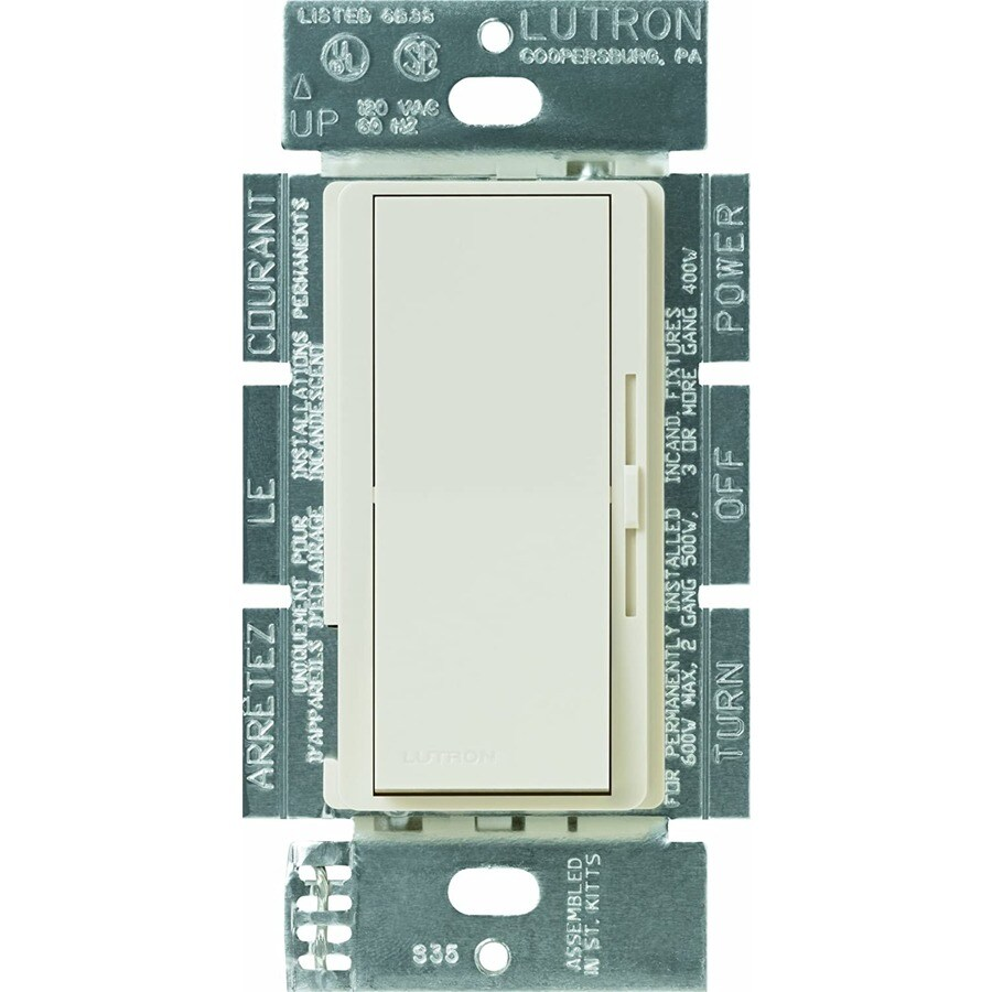 Lutron Diva 300-Watt Single Pole 3-Way Light Almond Indoor Dimmer
