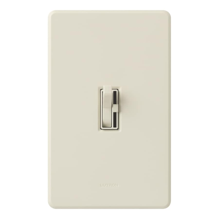 Lutron Toggler 6-Amp Single Pole 3-Way Light Almond Indoor Toggle Dimmer