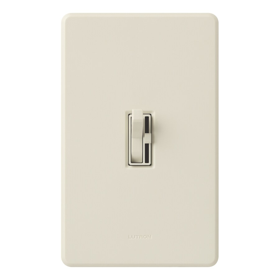 Lutron Toggler 6-amp Single Pole 3-way Light Almond Toggle Indoor Dimmer