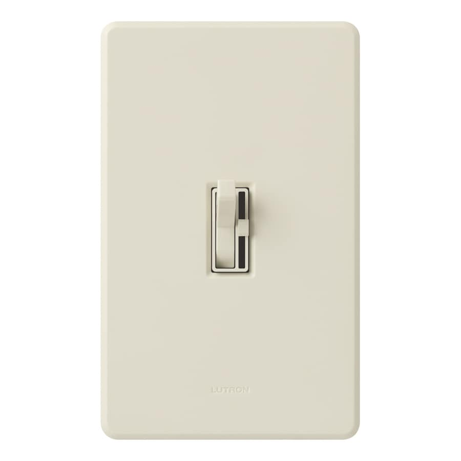 Lutron Toggler 1,000-Watt Single Pole Light Almond Indoor Toggle Dimmer