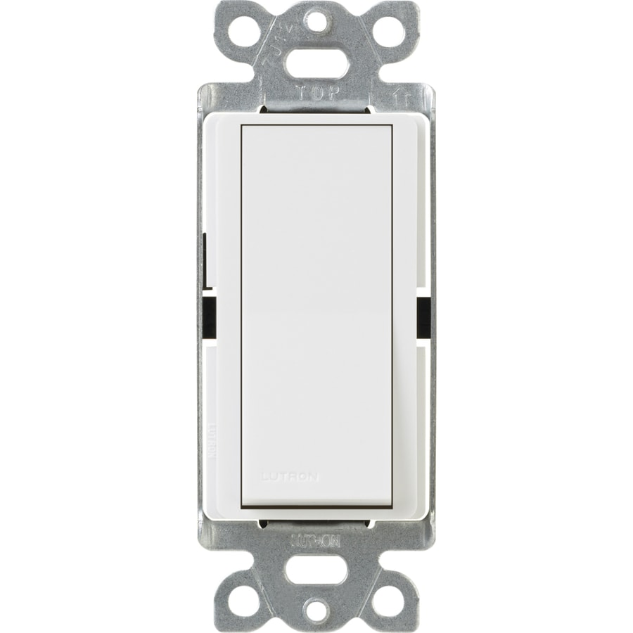 Lutron 15-Amp White Single Pole Decorator Light Switch