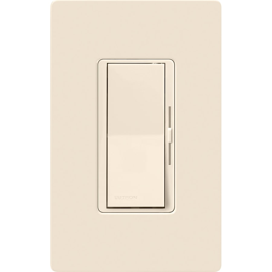Lutron Diva 600-Watt Single Pole Light Almond Indoor Dimmer