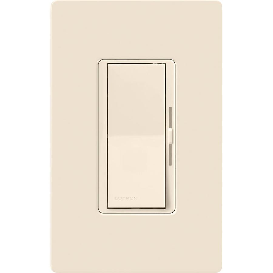 Lutron Diva 600-Watt Single Pole 3-Way Light Almond Indoor Dimmer