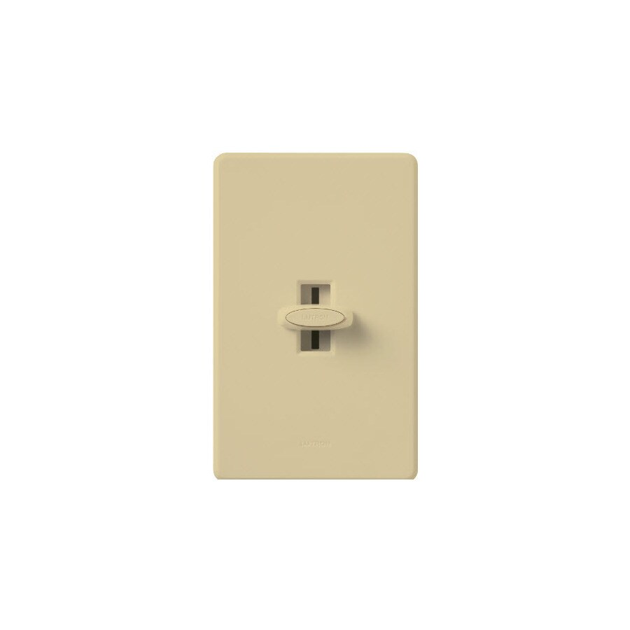 Lutron Glyder 1000-Watt Single Pole Ivory Slide Indoor Dimmer