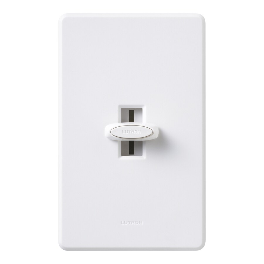 Lutron Glyder 1,000-Watt Single Pole 3-Way White Indoor Slide Dimmer