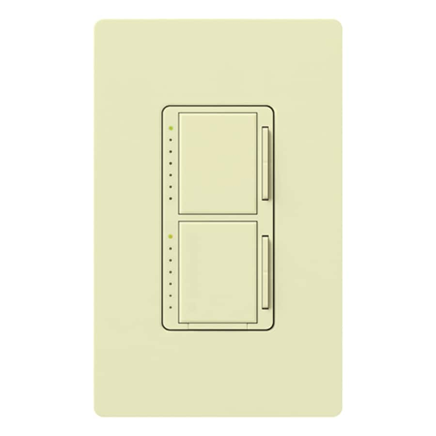 Lutron Maestro 300-Watt Single Pole Almond Indoor Touch Dimmer