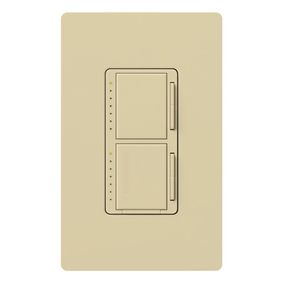 Lutron Maestro 300-Watt Single Pole Ivory Indoor Touch Dimmer