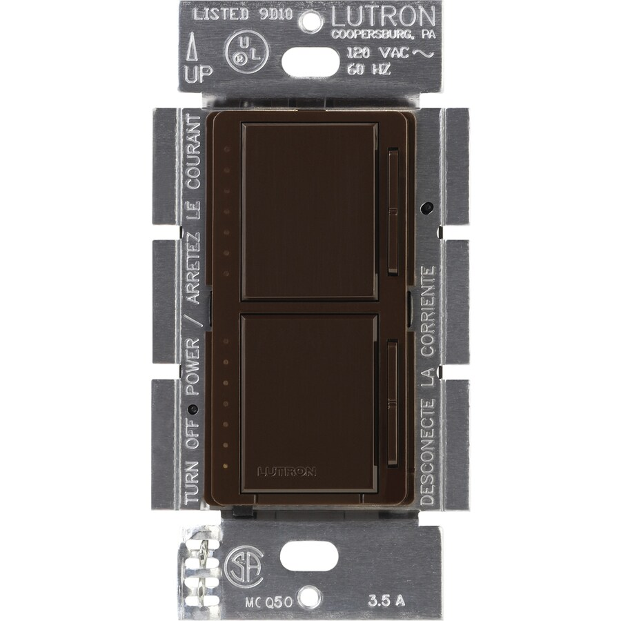 Lutron Maestro 300-Watt Single Pole Brown Touch Indoor Dimmer