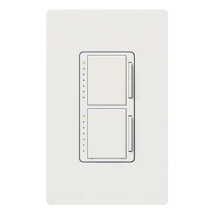 Lutron Maestro 300-watt Single Pole Snow Touch Indoor Dimmer