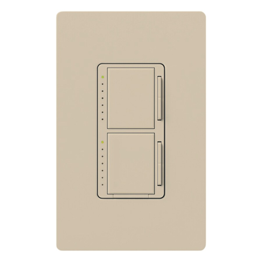Lutron Maestro 300-watt Single Pole Taupe Touch Indoor Dimmer