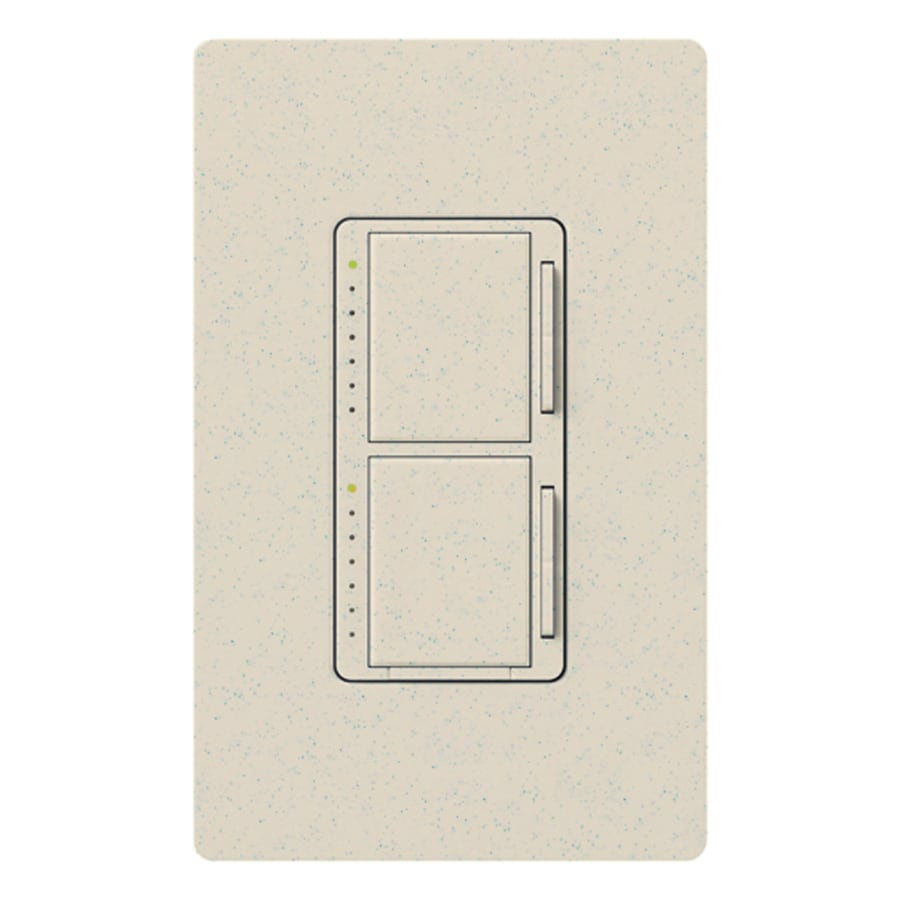 Lutron Maestro 300-Watt Single Pole Limestone Indoor Touch Dimmer