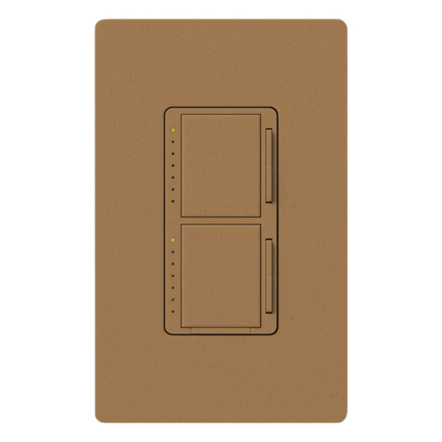 Lutron Maestro 300-watt Single Pole Terracotta Touch Indoor Dimmer